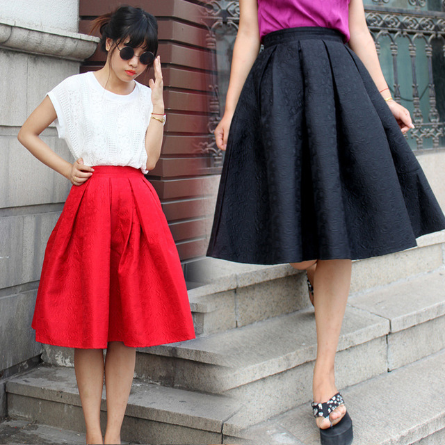 Aliexpress.com : Buy 2014 Women Autumn Winter Midi Skirt Jacquard ...