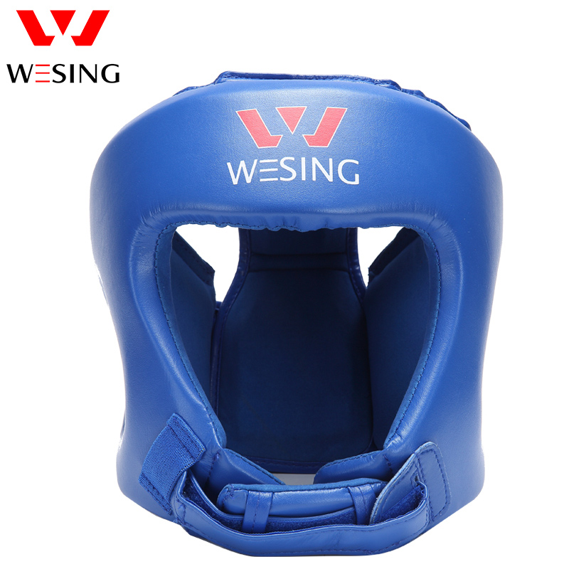 Wesing Muay Thai Head Guard Boxing Helmet Training Sparring Protection kick Boxing Head Protector Competition wesing aiba approved boxing gloves 12oz competition mma training muay thai kickboxing sanda boxer gloves red blue