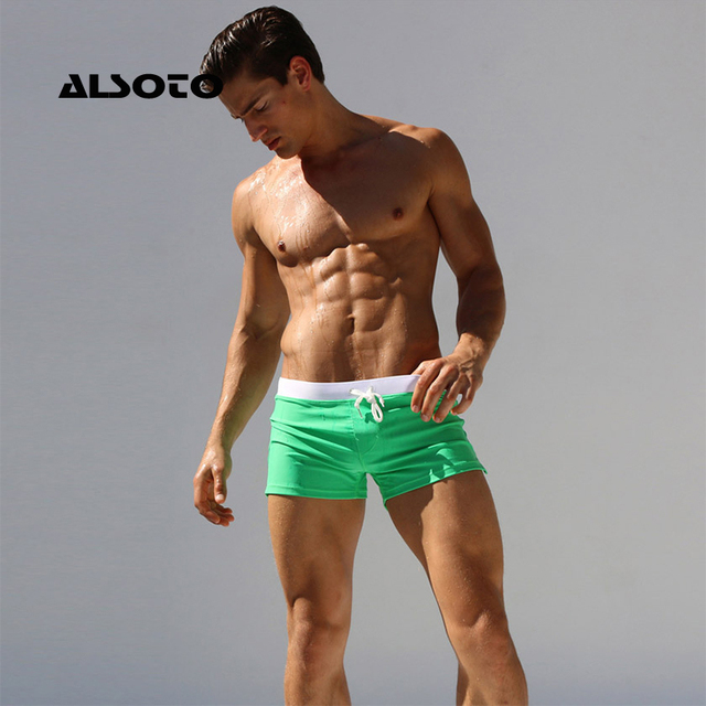 ALSOTO New Swimwear Men Swimsuit Sexy Swimming Trunks Sunga Hot Mens Swim Briefs Beach Shorts Mayo Sungas De Praia Homens