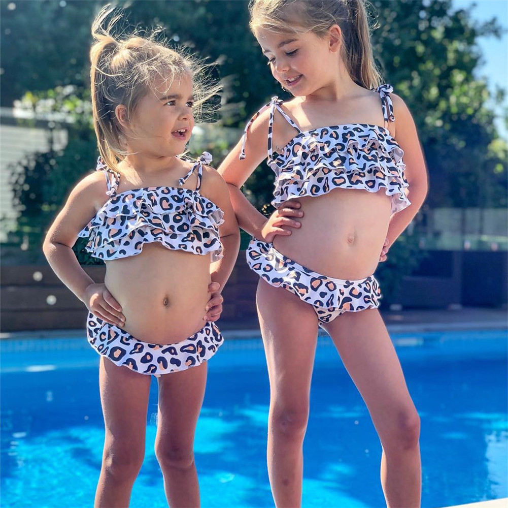 mommy and me clothes mother daughter matching bikini big sister little sister family clothing sleeveless print sets 2019 summer in Matching Family Outfits from Mother Kids