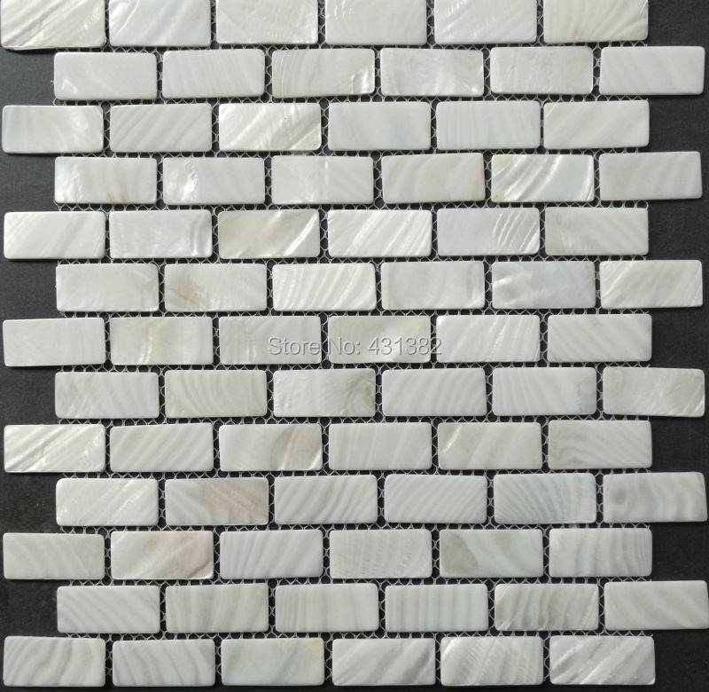 BIG Shell Mosaic Tiles;white Brick Tiles;23*48*2 Natural Color