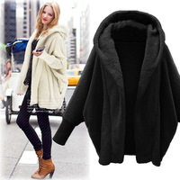 New Autumn Winter Women Coats Vestido Plus Size Fashion Casual Loose Solid Full Sleeve Hooded Plush Coat For Women Large Outwear