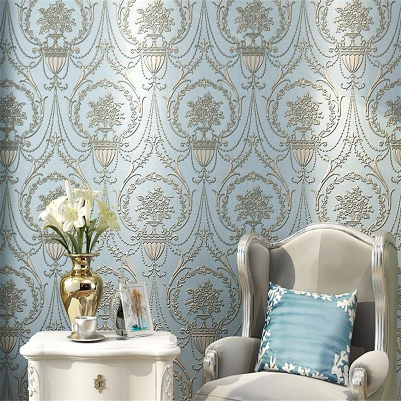 Beibehang European luxury high-end 3 d sitting room retro 3d wallpaper roll bedroom 3 d TV background wallpaper for walls 3 d beibehang high quality embossed wallpaper for living room bedroom wall paper roll desktop tv background wallpaper for walls 3 d
