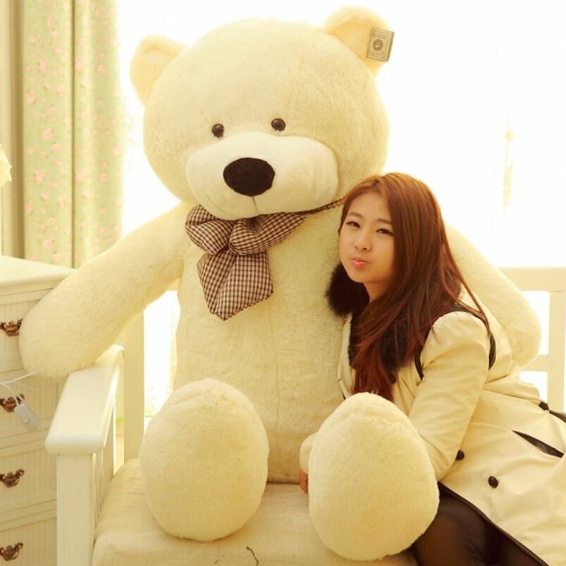 Géant grande taille blanc brun et brun foncé rose ours en peluche peluche peluche animaux cadeaux de la saint-valentin