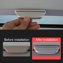 Car accessories Interior Top Roof Handle Cover Trim ABS Matte 1pcs For VW Volkswagen Golf Mk7 2013-2018