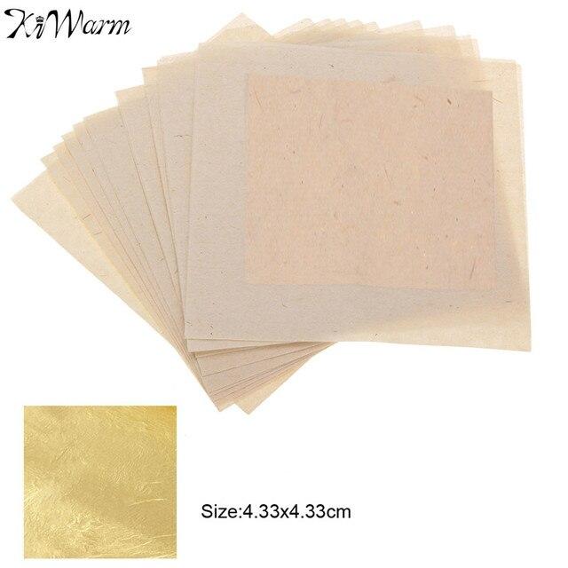 Kiwarm 10 Sheets 24k Pure Genuine Edible Gold Leaf Foil Gilding