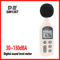 New Digital Sound Level Meter Meters Noise Tester in decibels LCD A/C FAST/SLOW dB screen RZ 30 130dB GM1357