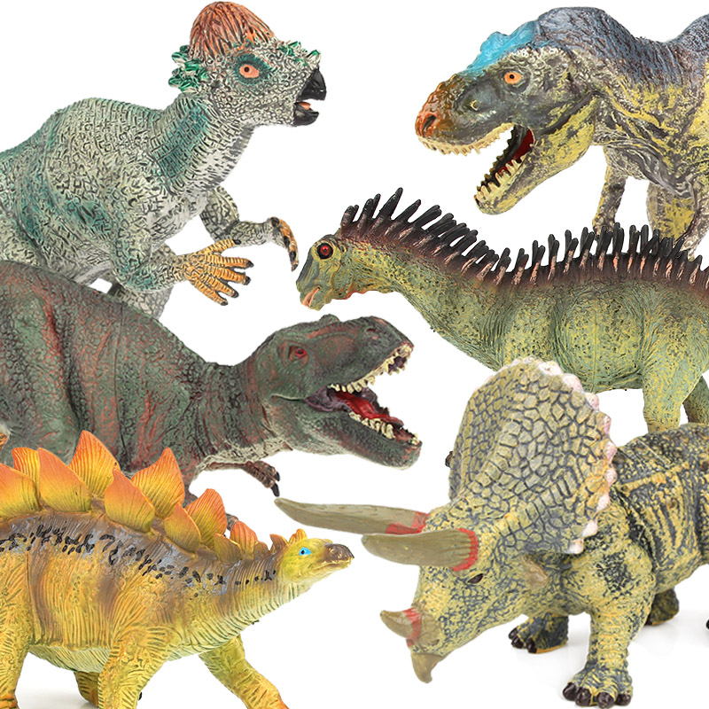 Lamwin Simulation Jurassic World Park PVC Middle Size Plastic Dinosaur Toys Action Figures Dinossauro Model 12pcs set dinosaurs plastic model children simulation animal solid soft dinosaur action figures toys gift for kids e