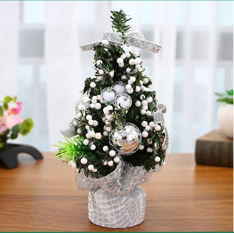 2pcs Christmas tree combo 20 cm desktop small miniature Christmas tree home furnishing articles present Christmas decorations