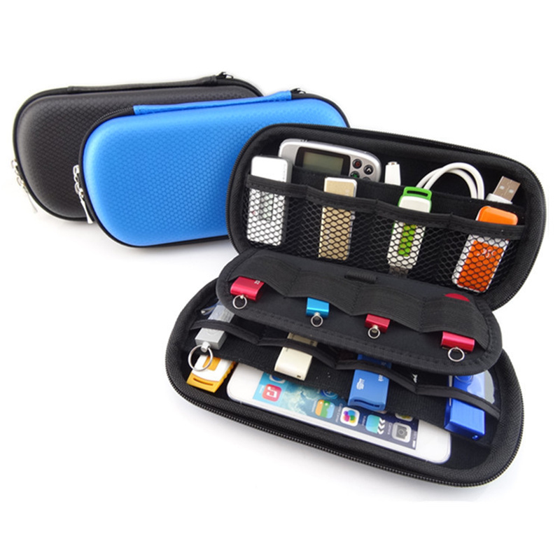 Alat Elektronik Travel Organizer Storage Bag untuk USB Data Cable Flash Drive SD Card Phone Digital Products Accessories Pouch