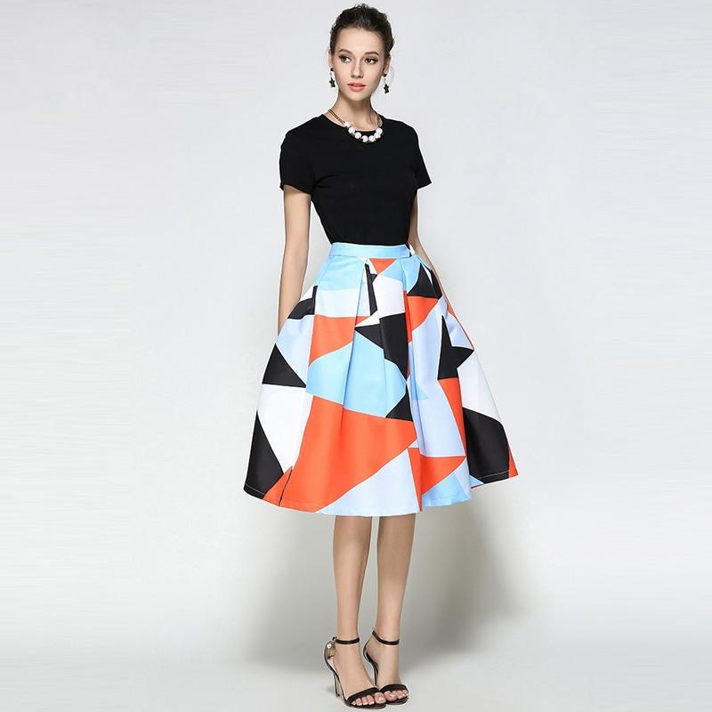 Willstage žene Midi suknja s printom patchwork haljina šarene - Ženska odjeća - Foto 4