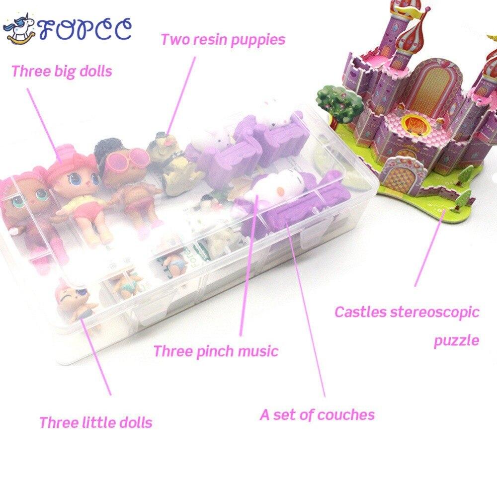Nieuwe aflevering Baby Veranderen Action Figur Jigsaw Burg Kinder Geschenk speelgoed voor meisjes