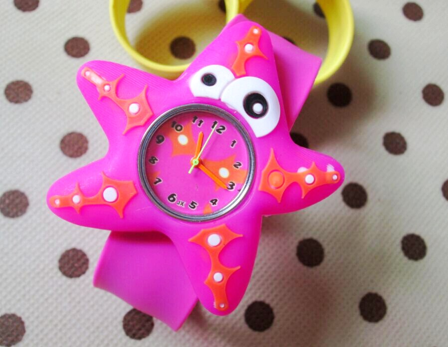 HOT Sale Watches 3D Kid Cartoon Watches Starfish Children Sports High Quality Slap Wristwatch