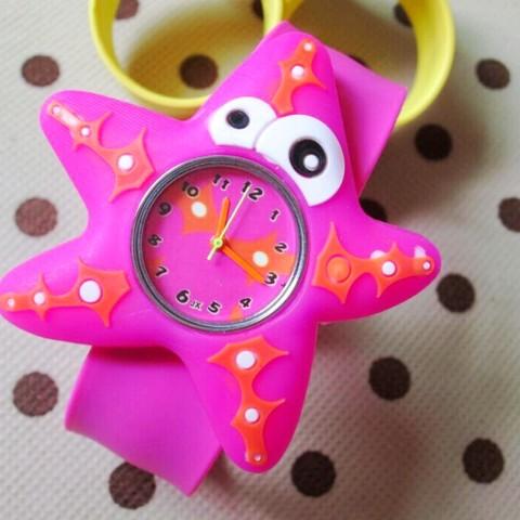 HOT Sale watches 3D Kid Cartoon watches Starfish children sports High quality slap wristwatch Pakistan