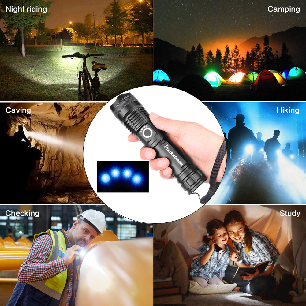 Купить с кэшбэком 30000 lumens Lamp xhp50.2 most powerful flashlight usb Zoom led torch xhp50 18650 or 26650 Rechargeable battery hunting