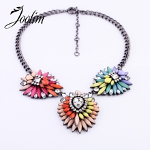 2013 Trendy Bohemian Style  Multicolour Pendant Necklace Free Shipping(Min $20 Can Mix)