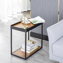 Nordic modern mini living room sofa industrial stylewood side table corners bedroom bedside table small coffee table цена