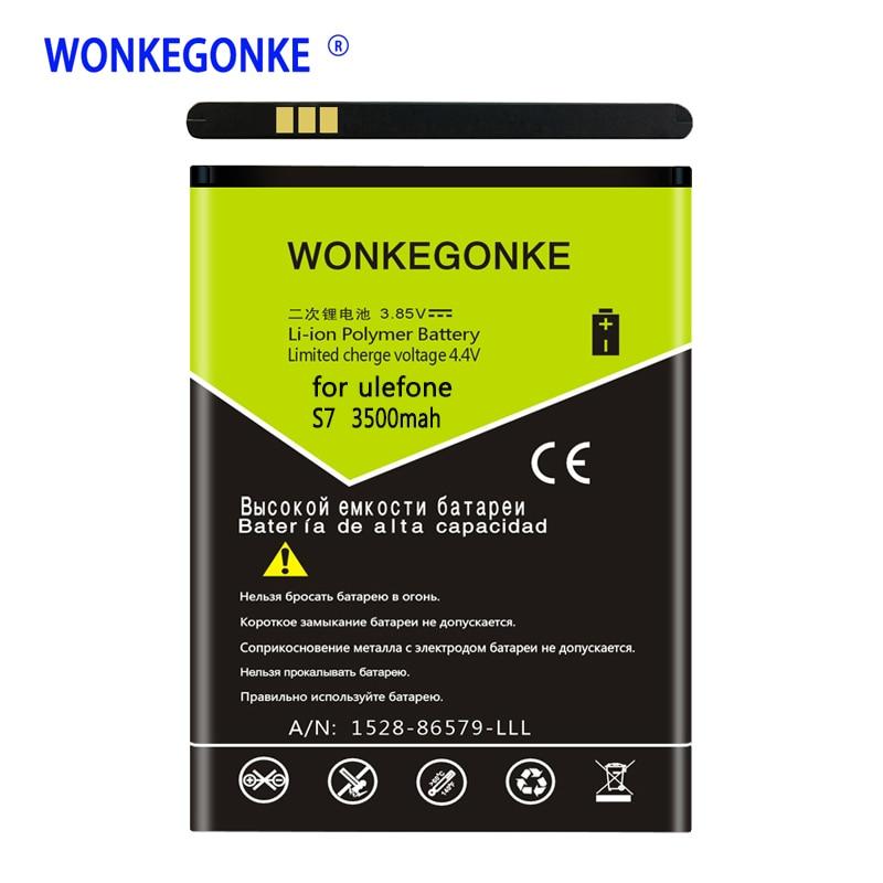 WONKEGONKE for ulefone S7 Mobile Phone Batteries Bateria