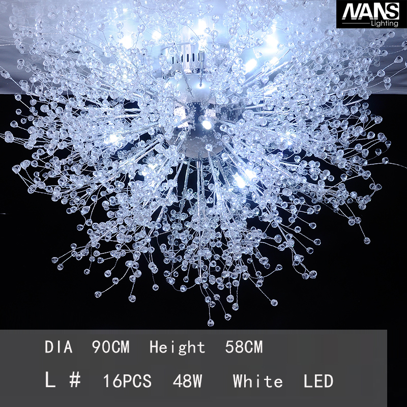 Modern White LED Ceiling Lights For Living Room luminarias para sala plafon led Crystal Ceiling Lamp Fixtures For Bedroom