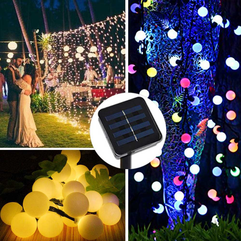 Outdoor Waterproof Novelty Solar LED Garlands String Lights Cherry Party Holidays Wedding Decoration Mariage Solaire LED Lumiere