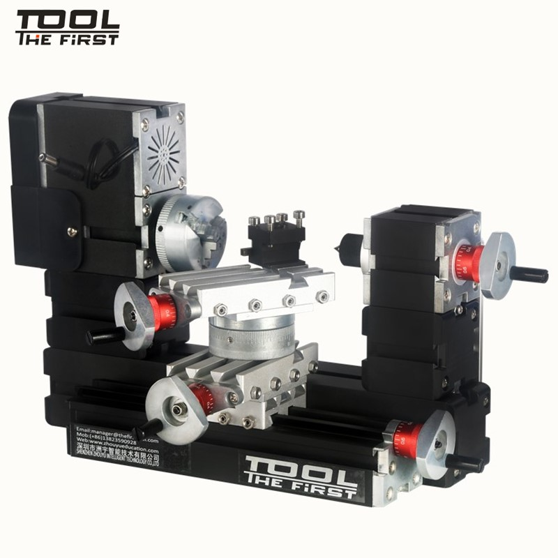 Thefirsttool TZ20002MR Big Power Mini Metal Rotating Lathe 12000rpm 60W Motor Larger Processing Radius DIY Tool