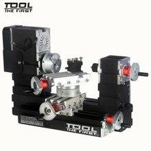 Thefirsttool TZ20002MR большой мощности мини-металлический токарно-ротационный станок 12000 об/мин 60 Вт двигатель большой радиус обработки DIY инструмент детский подарок