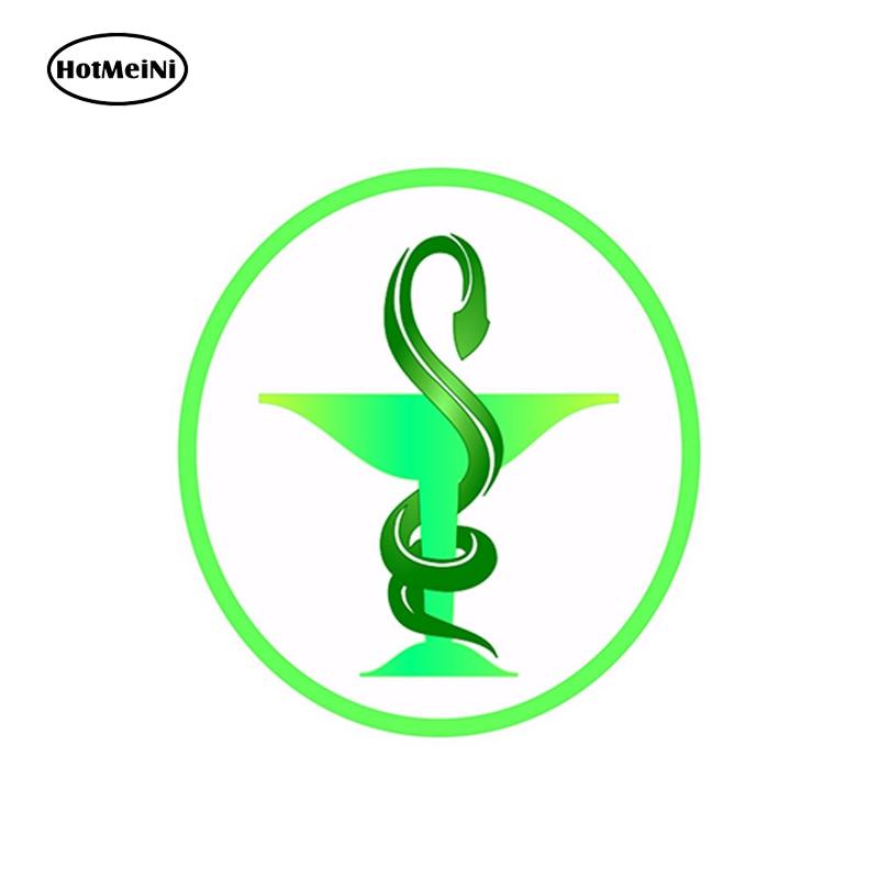 Hotmeini Car Styling Sticker Medical Caduceus Pharmacy Logo Vinyl For Store Shop Work Truck Home Car Sticker 13cm X1 3cm