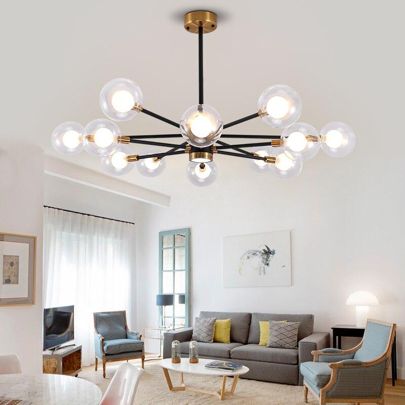 Suspension magique moléculaire de branche de haricot moderne nordique allume la lampe accrochante de LED pour l'éclairage de barre de salon de salle à manger