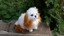 new simulation Pekingese dog 14x11cm toy polyethylene&furs Pekingese dog model decoration gift t254