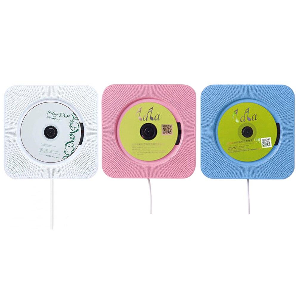 Lecteur CD Bluetooth mural interrupteur à tirer avec télécommande haut-parleur Hifi lecteur USB lecteur casque prise Aux entrée sortie