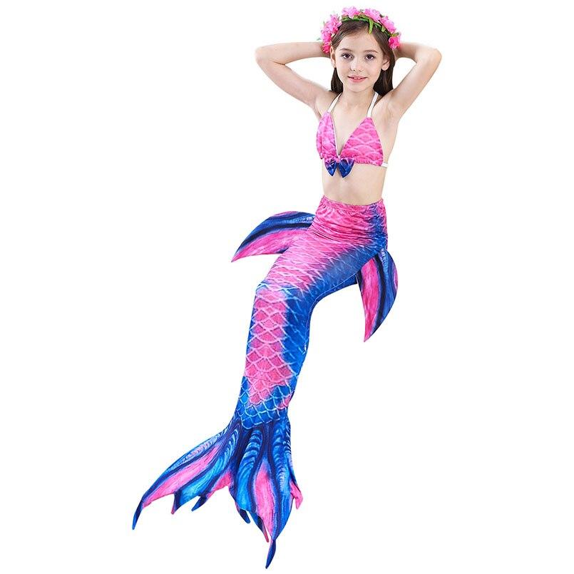girls mermaid tail swimwear 4-1-2