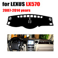 Car dashboard cover mat For LEXUS LX570 2007-2014 years Left hand drive dashmat pad dash covers auto dashboard accessories