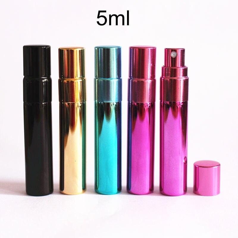 50pcs 5ml sample glass vial perfume tube test bottle mist spray bottle empty cosmetic travel perfume