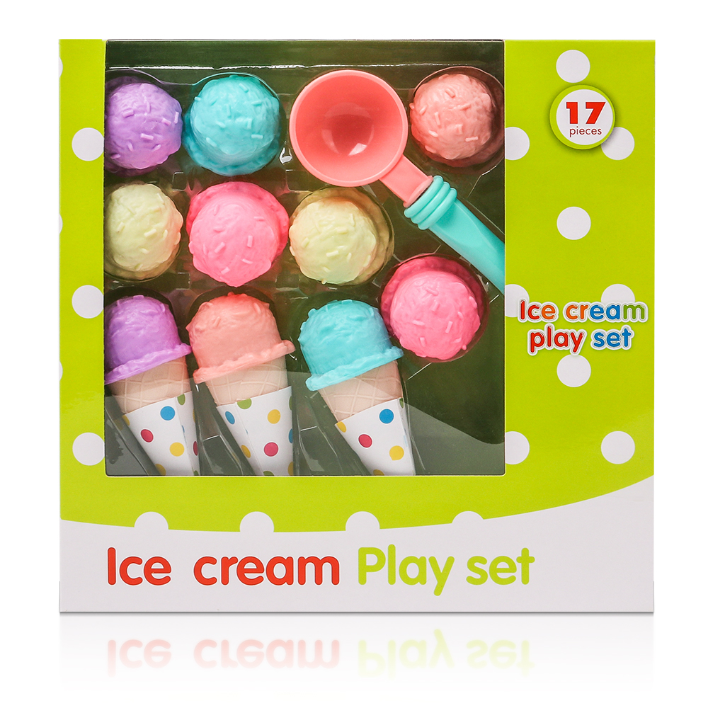 все цены на 17PCS Ice Cream Play Set Pretend Play Toys Educational Kid Kitchen Set Fun Miniature Toys for Children
