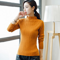 2017 Autumn New Women's Half-Pumping Solid Color Knit Pullover Sweater Coat Wild Cashmere Sweater Rabbit Sweaters