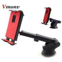 Telefone Tablet Stand para IPAD Air Mini 1 2 Vmonv 3 4 Samsung Forte Sucção Tablet Car Holder Suporte para capas para iphone 4-10.5 Polegada X Telefone