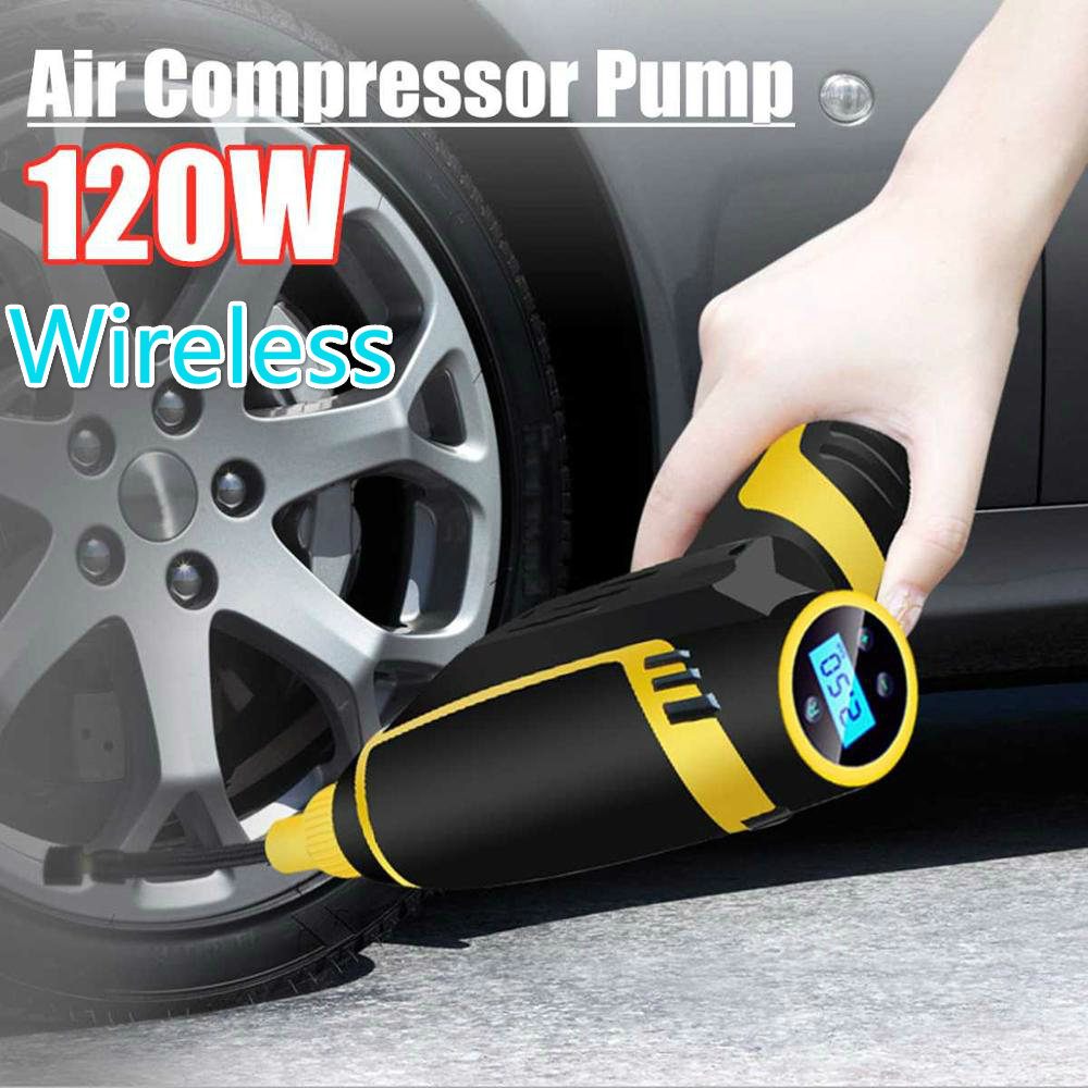 Air-Compressor-Pump Tire Digital Portable Wireless Car Handheld 12v 120w title=