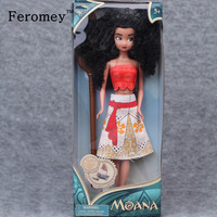 Kawaii Princess Moana Action Figures Doll Toys 30cm Moana Princess Plastic Doll Gift For Girls High