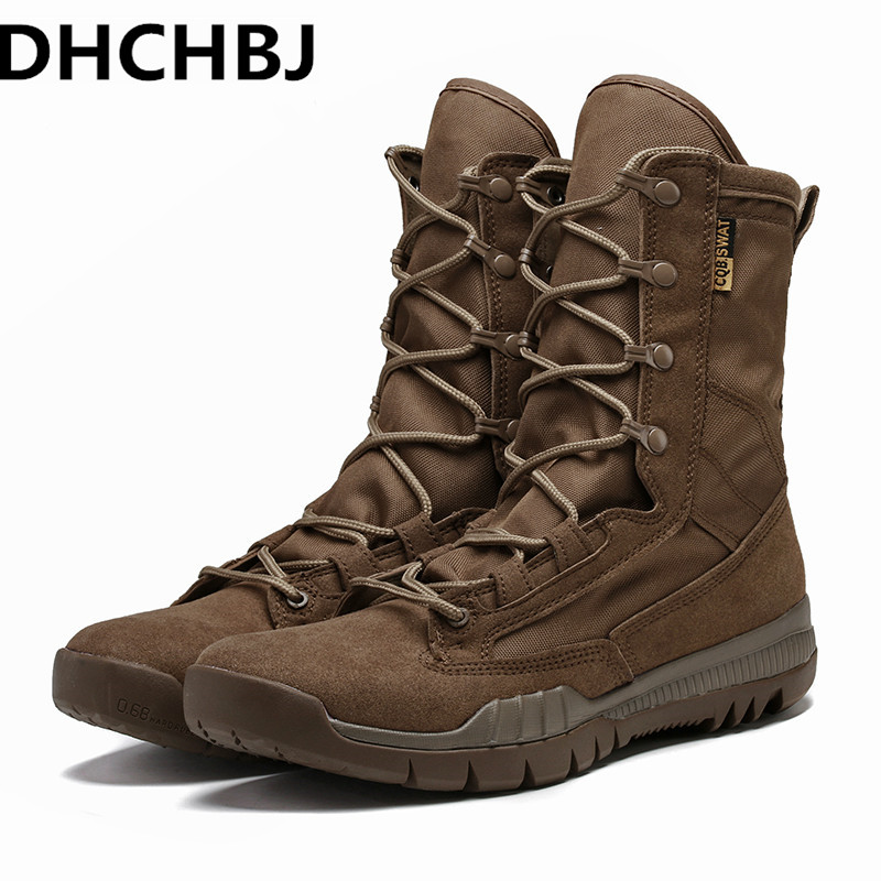 Outdoor Military Tactical Combat Boot Men CS Field Boots High Top Hiking Shoes Camping Shoes Travel Shoes