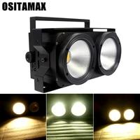 2X100W COB Cool White or Warm White DMX Blinder Light High Power LED Matrix Stage Background Lights