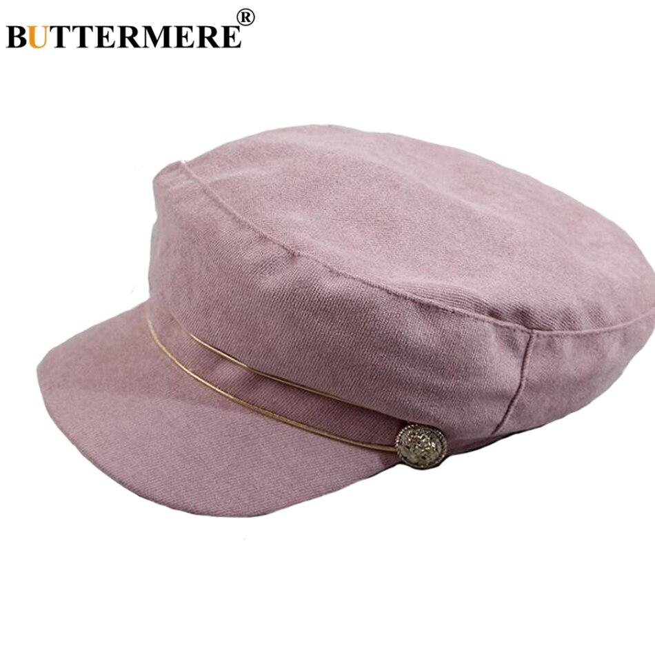 BUTTERMERE negro vendedor tapas de algodón de las mujeres octogonal sombrero  elegante pintor sombreros de mujer verano chico Baker gorras planas en  Vendedor ... a7c1b607b8d