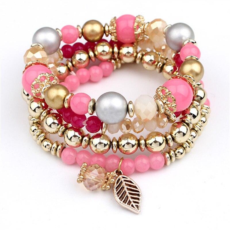 Fashion Multilayer Crystal Beaded Bracelets Bracelets Jewelry Women Jewelry