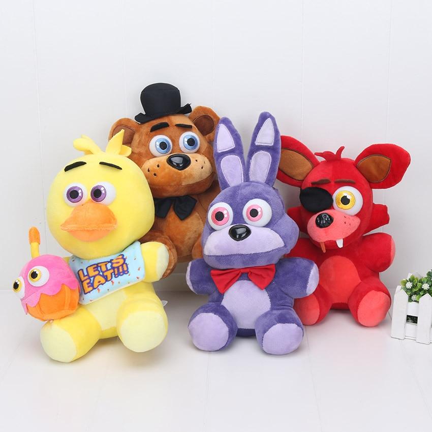 25cm Five Nights At Freedys Golden Freddy Fazbear Fnaf Toys Nightmare Fredbear Chica Bonnie Foxy Plush Toy Stuffed Doll 40pcs Dolls & Stuffed Toys