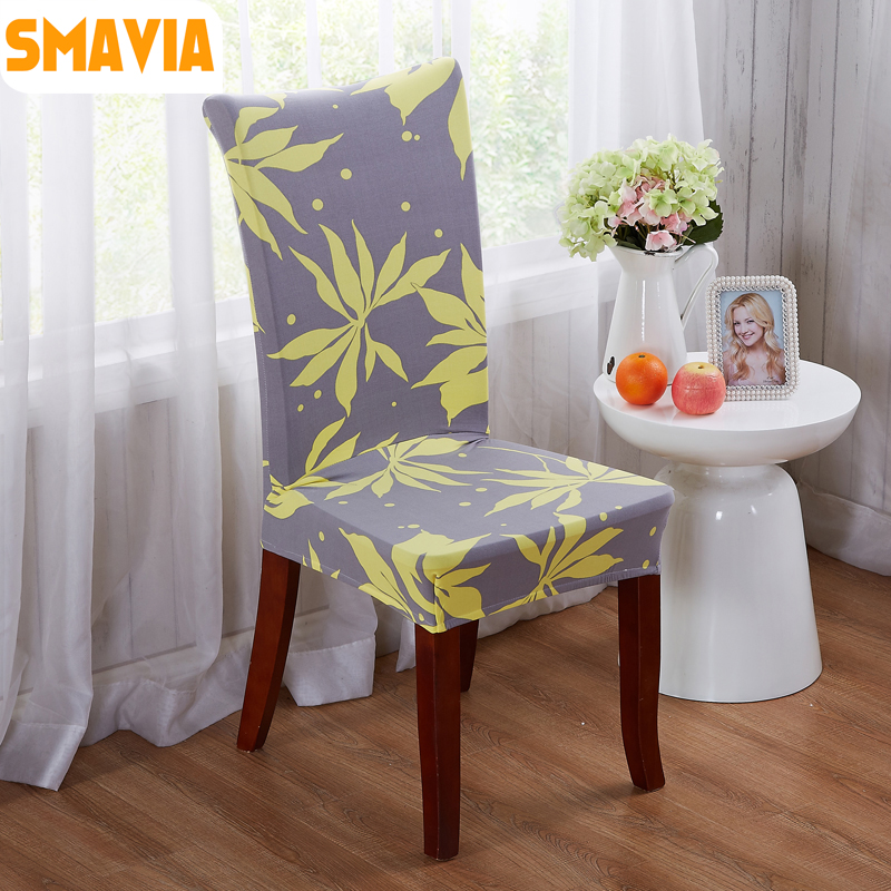 SMAVIA New Arrival Spandex Dining Chair Cover 100% Polyester Printed Fabric  for Hotel Home Elastic - Popular Fabric For Dining Chairs-Buy Cheap Fabric For Dining