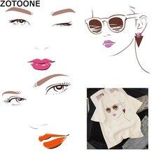 ZOTOONE Cartoon Girl Eyebrow Printing T-shirt Patterns Women's Clothing DIY Heat Transfer Sticker Heat Conduction Vinyl  Patch D m özisik heat conduction isbn 9781118332856