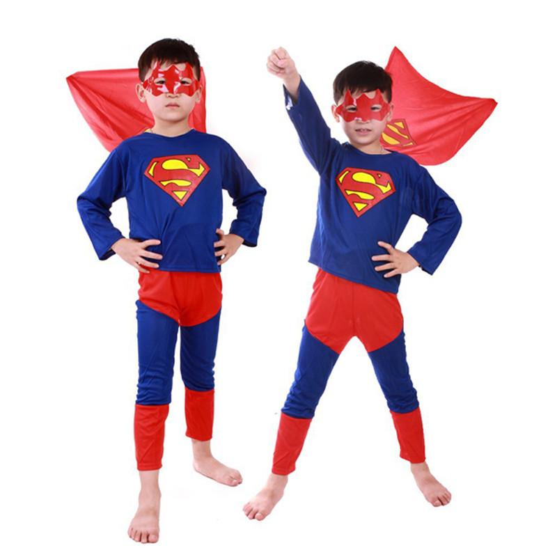 3 styles kids baby superhero spider man superman batman spiderman cosplay carnival halloween costume child accessories for kids 14