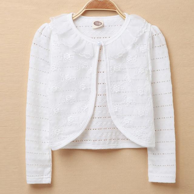 e6da9647c 2018 Baby Girls Outerwear 100% Cotton White Baby Girl Jacket ...