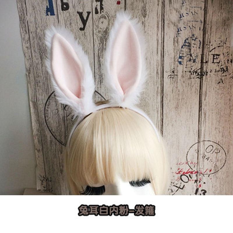 Ursos de pelúcia orelhas de coelho cosplay anime merece agir o papel de adereços pirita arco cabelo arco