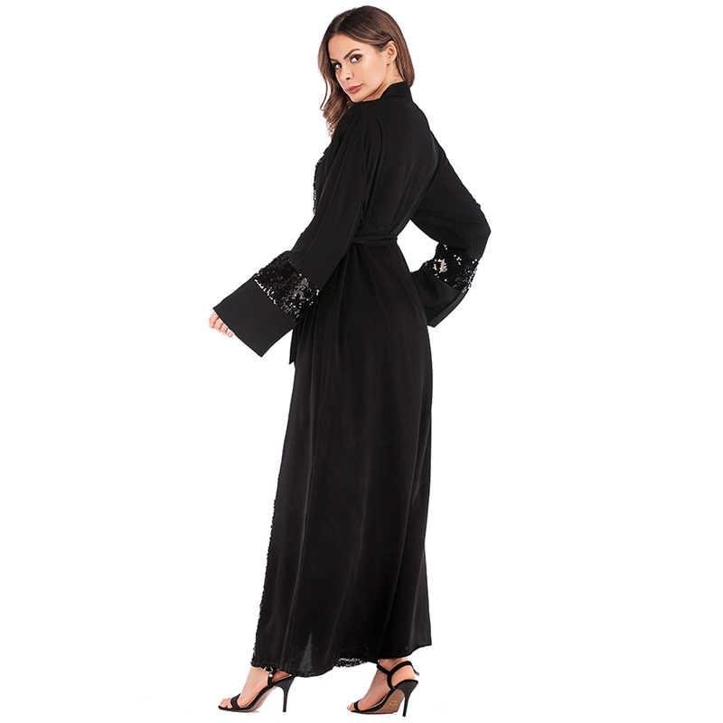 0d5e30198 ... Plus Size Women Kimonos Mujer Vetement Femme 2019 Long Sequined Kimono  Cardigan Roupa Feminina Clothes Korean