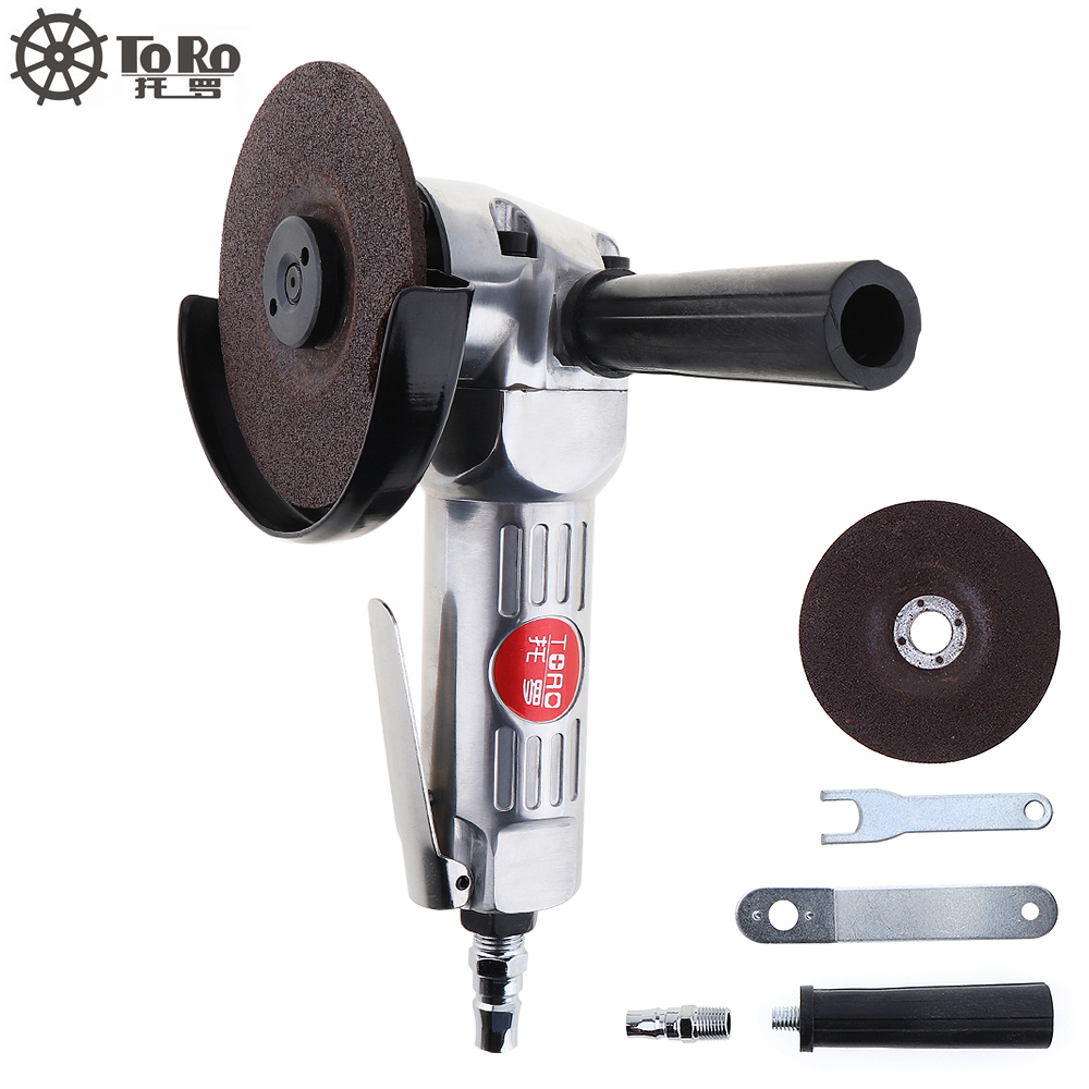 TORO 4 Inch High-speed Pneumatic Angle Grinder with Disc Polished Piece and PVC Handle for Machine Polished / Cutting Operation brand new relogio feminino date day clock female stainless steel watch ladies fashion casual watch quartz wrist women watches
